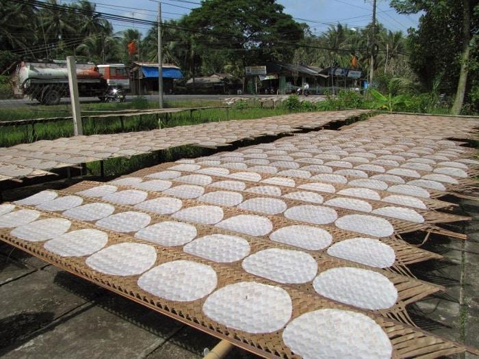 Bánh tráng Mỹ Lồng, huyện Giồng Trôm, Bến Tre