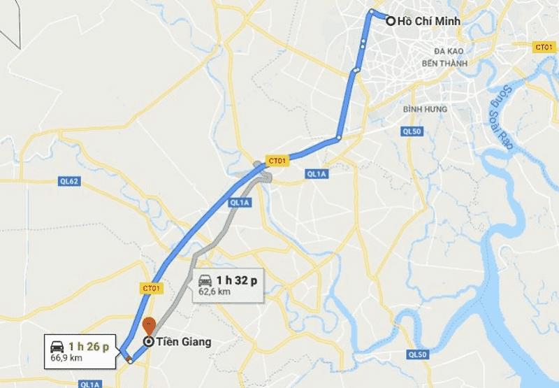 Cách di chuyển từ Sài Gòn đến Tiền Giang