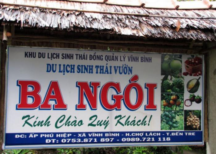 Khu du lịch sinh thái vườn Ba Ngói Bến Tre