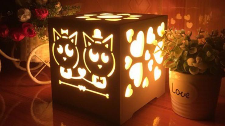 tự tay làm đèn ngủ handmade để tặng bạn gái